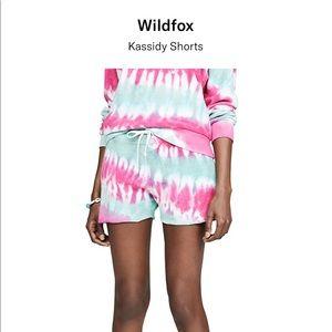 ISO Wildfox Kassidy Shorts in Retro Tie Dye sz s